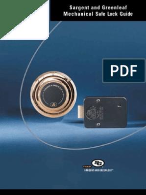 Sargent and Greenleaf Mechanical Safe Lock Guide | Lock