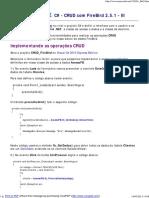 C# - CRUD com FireBird 2.5.1 - III