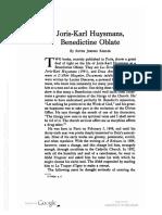 Joris-Karl Huysmans, Benedictine Oblate