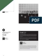 Google+HMCT Typographic Notes