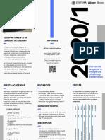 Folleto - Inscripción Cursos de Lenguas 2020-1