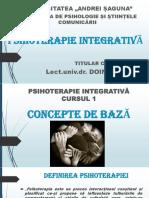 Curs 1 Psihoterapie integrativa