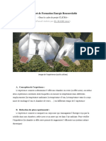 Rapport de Formation Energie Renouvelable