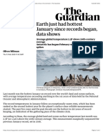 Earth just had hottest January since records began, data shows | Environment | The Guardian