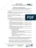 FDA FAQs on AO 2015-003