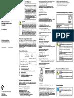 Instruction manual differential pressure sensor