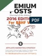 Premium posts 2016 - Finch