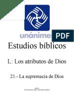 L.21.- La supremacia de Dios