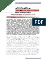 terminos de referencia - Proyectos de innovacion 2011 - 21102011 - www.locti.co.ve