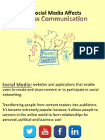 Communicating via Social Media