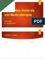 Atividades musicais em Musicoterapia