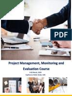 PROJECCT MANAGEMENT, MONITORING AND EVALUATION COURSE - DUBAI