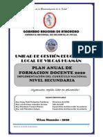 PLAN  DE FORMACION DOCENTE EN CNEB UGEL 2020 VH