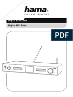 Hama DIT2000M Internet Radio & DAB+ & FM HiFi Tuner (Instr.Manual)