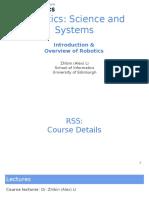 1 RSS Overview of Robotics