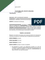CONTESTACION DEMANDA EJECUTIVA DE ALIMENTOS