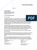 City solicitor David White letter to Bruce Sevigny, Feb. 13, 2020