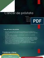 que cacahuetes duelen para el cáncer de próstata