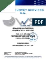 HDS ACEITE DIELECTRICO EN SERVICIO (Junio 2019) rev.00