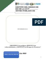 2 .Plan de Gestión del Riesgos de Desastres 2019.