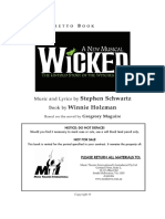 Wicked Libretto