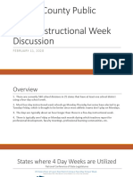 4 Day Instructional Week Discussion- February 2020