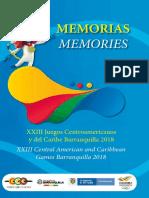 Libro memorias Juegos Centroamericanos y del Caribe Barranquilla 2018