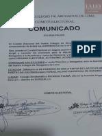 Comunicado 012-2020-CAL/CE