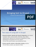 Bringing Solr to Drupal a General and Library Specific Use Case Peter Kiraly