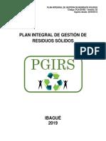 PLAN INTEGRAL DE GESTION DE RESIDUOS SOLIDOS