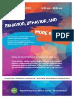 Behavior- Behavior- And More Behavior Flyer 02-21-20