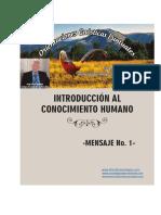 Introduccion Al Conocimiento Humano-mensaje No.1
