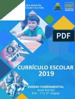CURRÍCULO ANOS INICIAIS 2019  - 1º AO 5º ANO