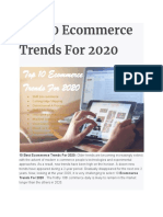 Top 10 Ecommerce Trends for 2020