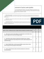 self-assessment of teacher leader qualities