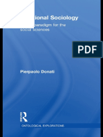 (Ontological Explorations) Pierpaolo Donati - Relational Sociology_ A New Paradigm for the Social Sciences-Routledge (2010)
