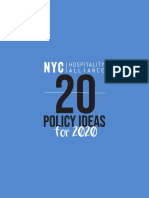 20 Policy Ideas for 2020 NYC Hospitality Alliance