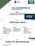 Aula 1 PROCESSOS GEODINAMICOS (MOVIMENTOS DE MASSA) PARTE 1