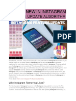 What's New in Instagram Feature Update Algorithm