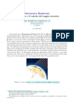 Eratostene e la misura del raggio terrestre