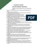 GLOSARIO DEL S.R FEMENINO - MASCULINO