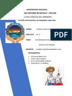 DETERMINACION DE ACIDO ACETICO EN VINAGRE
