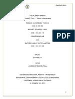 Unidad 3 Paso 3 - Diseño base de datos