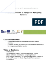 T-1 Basic definitions of inteligence warfighting function (lecture)