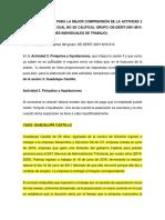 EJEMPLO PARA LA MEJOR COMPRENSIÓN DE LA ACTIVIDAD 2 DE LA SESIÓN 4