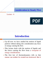 Lecture-6-Energy Consideration in Steady Flow