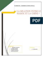 MAROC-CHINE