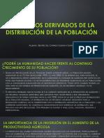 Productos derivados de la distribución de la población