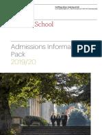 2019-20 Admissions Pack MHS - International