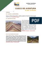 PROMO CUSCO DE AVENTURA - 5 DIAS - 4 NOCHES 2020
